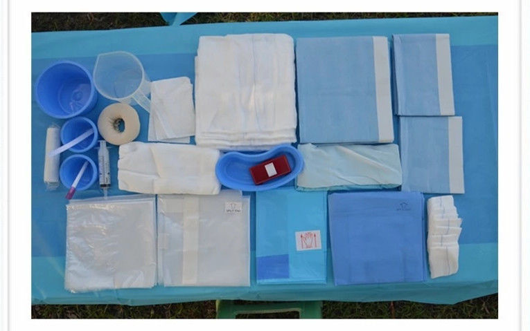 Blue Color Sterile Surgical Drape Pack / Disposable Examination Drape
